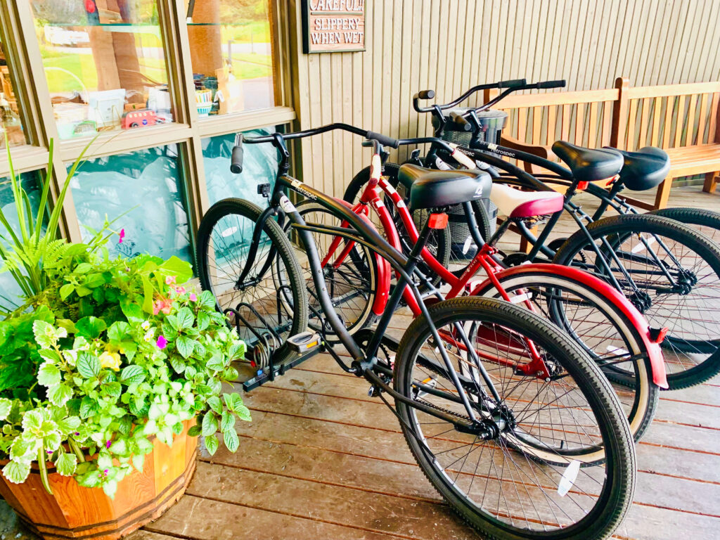 Complimentary bikes at the Lodge