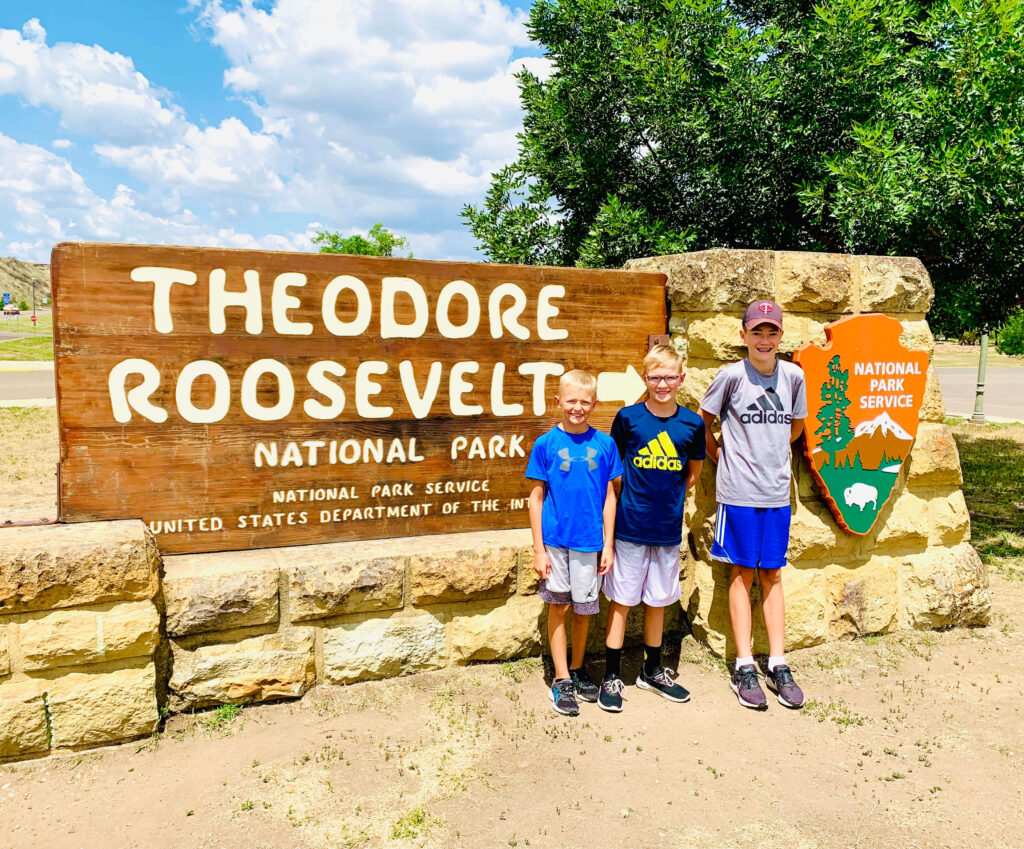 Theodore Roosevelt National Park sign