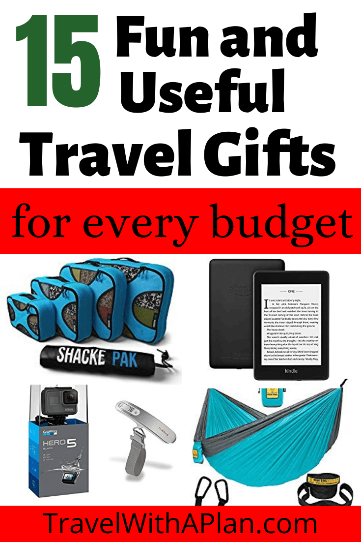 Click here for an in-depth list of useful travel gifts that fit every budget.  Our useful travel gifts fit the needs of all travelers and can be gifts for people who love to travel!  #travelwithaplan #travelgiftideas