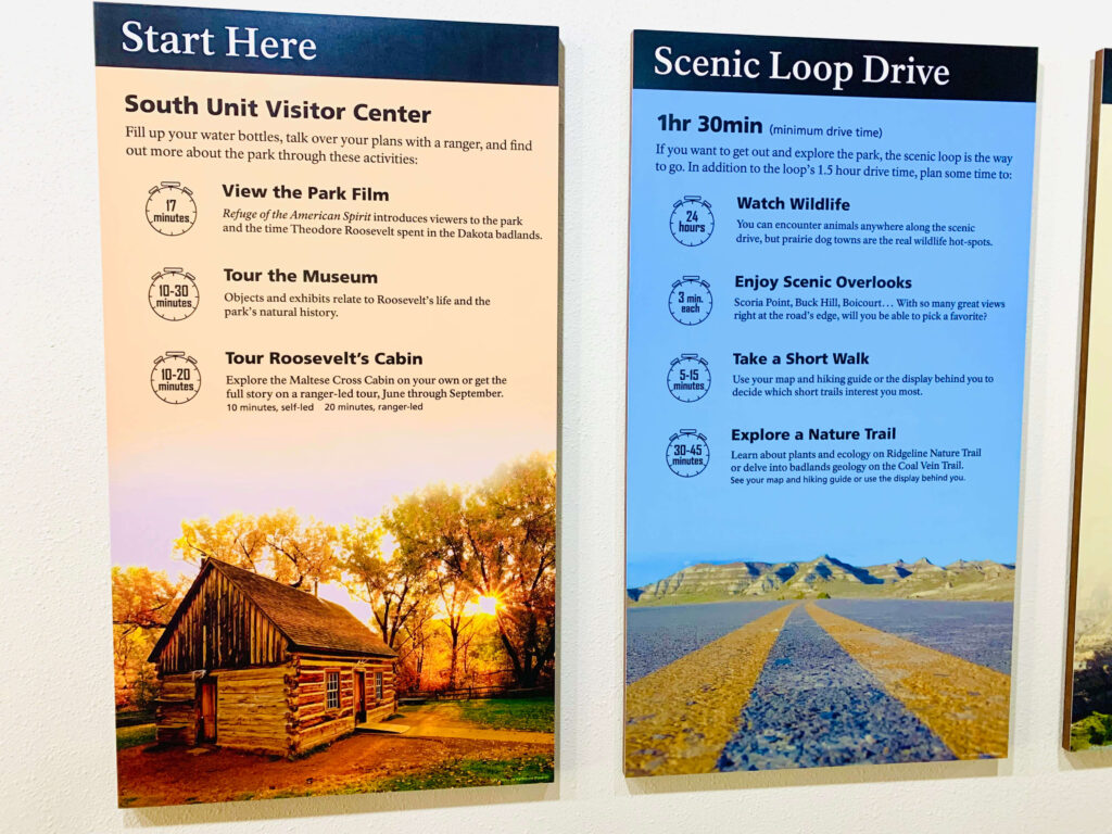 Visitor Center signs