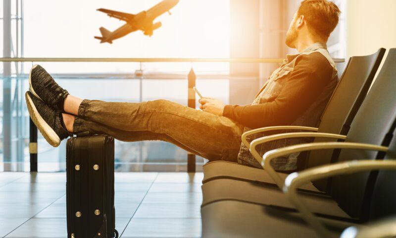 Man at airport