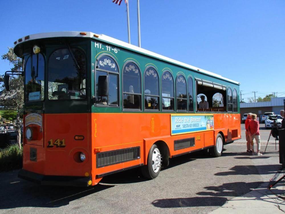 Things to do in Siesta Key, ride the free Siesta Key Trolley