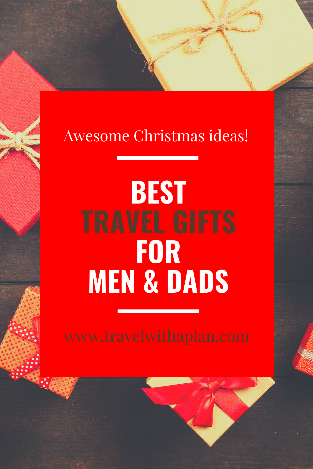 Click here for a list of 15+ travel gifts ideas for men!  Our list of the perfect travel gifts comes from top U.S. family travel blog, Travel With A Plan!